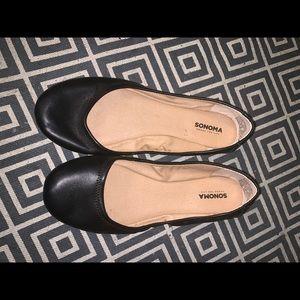 Sonoma women's black leather flats